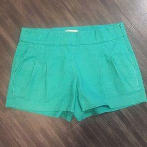 J. Crew turquoise shorts. Size 4